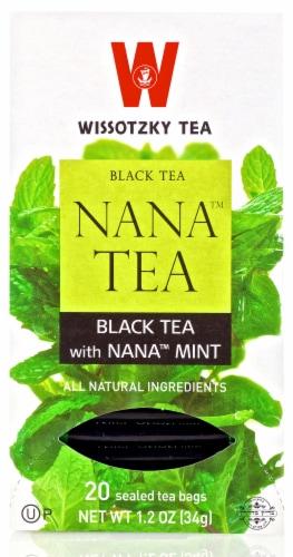 Wissotzky Tea Black Tea with Nana Mint Tea Bags Perspective: front