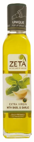 Zeta Extra Virgin with Basil & Garlic Olive Oil Perspective: front