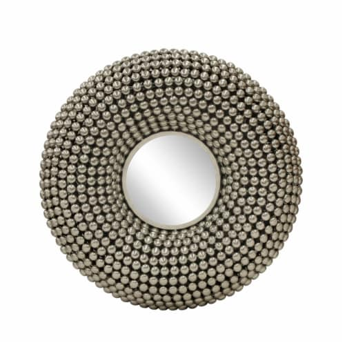 Metal 31  Bubbles Wall Deco W/ Mirror, Silver Perspective: front