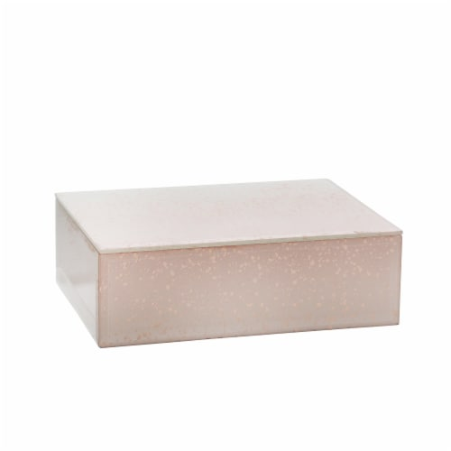 Wood/Glass 8  Marbled Box, Pink Perspective: front