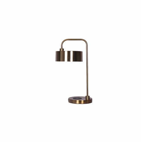 Metal 18  Desk Lamp W/Usb & Wireless Charger, Gold Perspective: front
