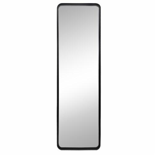 62  Rectangular Mirror, Black Perspective: front