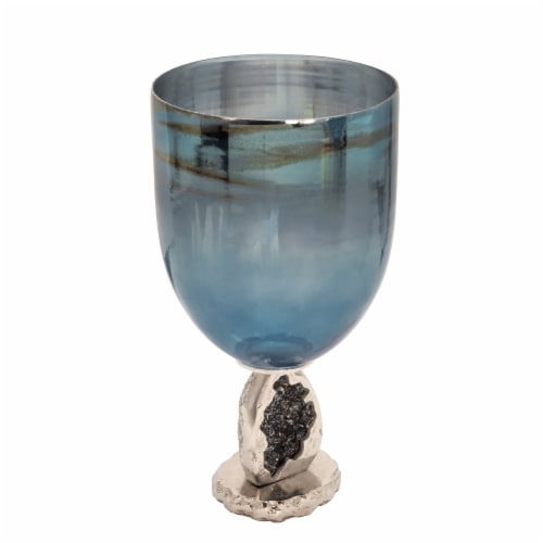 17  Glass Hurricane, Blue Perspective: front