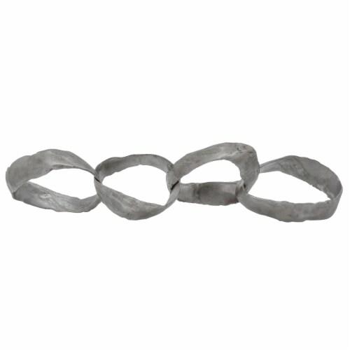 20  Metal Ring Chains, Gun Metal Perspective: front