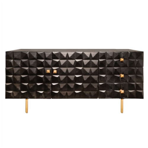 Wood 63X30  3-Drawer Sideboard Perspective: front
