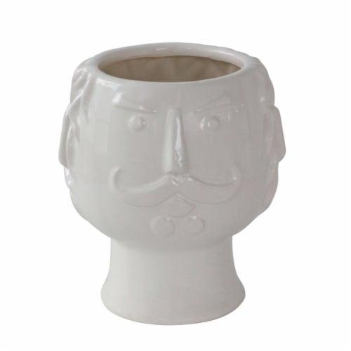 6  Grandpa Face Planter, White Perspective: front