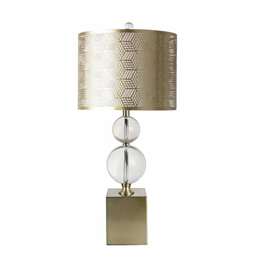 Crystal 30.5  2 Ball Table Lamp, Clear Perspective: front