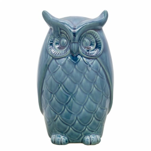 10  Owl Decor, Blue Perspective: front