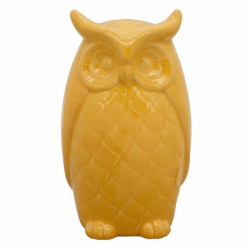 10  Owl Decor, Yellow Perspective: front