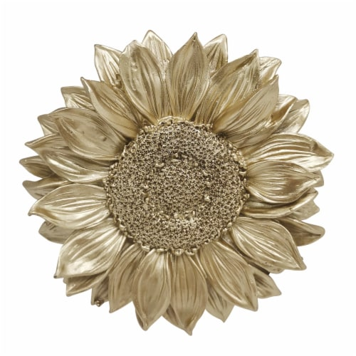 Resin 7  Sunflower Wall Accent, Gold Perspective: front