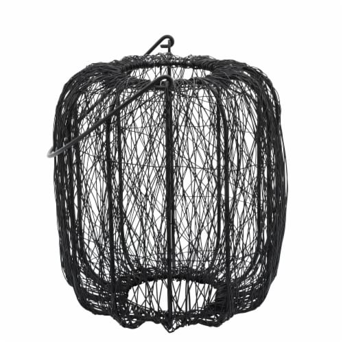 Metal, 10 H Wire Lantern, Black Perspective: front