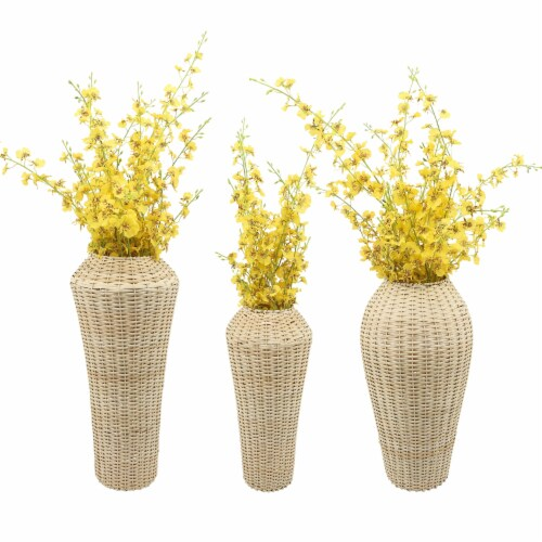 Wicker, 21 H Decorative Vase, Natural Perspective: front