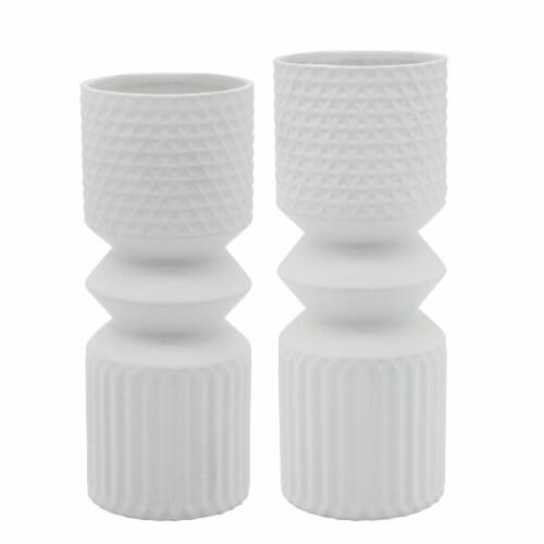 Cer, 10  Mallet Vase, White Perspective: front