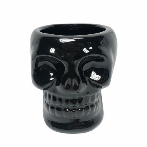 Cer, 5  Skull Vase, Black Perspective: front