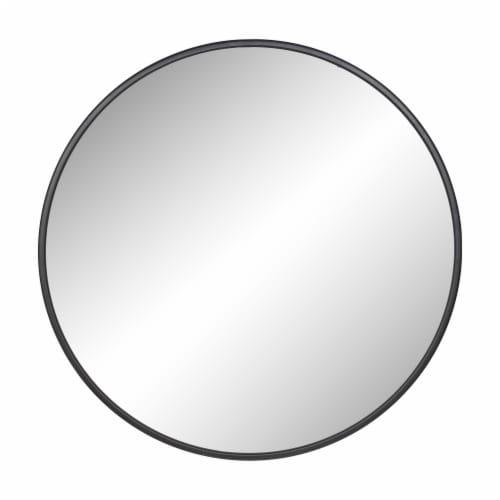 Metal 36  Round Mirror, Black Perspective: front