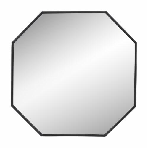 Metal, 32  Octagonal Mirror, Black Perspective: front