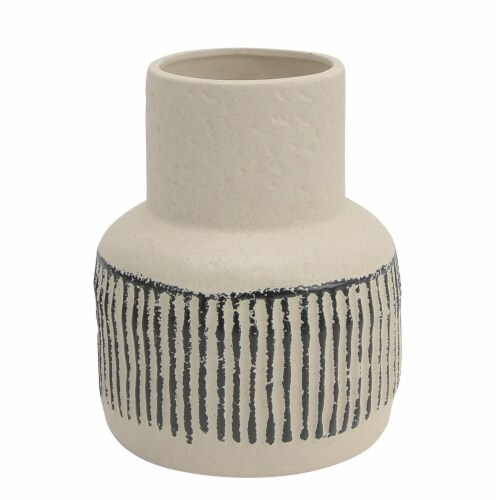 Cer, 8 H Tribal Vase, Ivory Perspective: front
