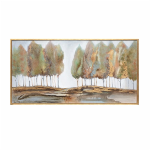 32X62, Trees Oil Painting, Multi Perspective: front
