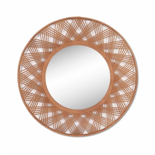 Bamboo, 35  Mirrored Wall Deco, Brown Perspective: front