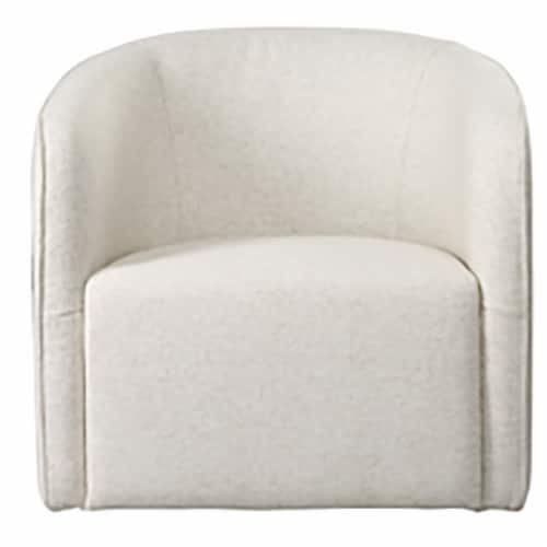 Barrel Arm Chair, Beige Perspective: front