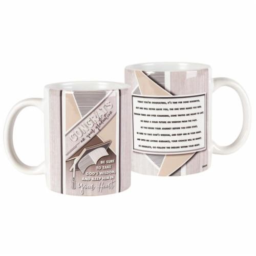 Dicksons MUG-1076 11 oz Ceramic Mug - Congrats on Your Graduation Perspective: front