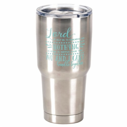 Dicksons SSTUM-14 8 x 4 in. 30 oz Stainless Steel Tumbler with Lid - Lord Help Me to Remember Perspective: front
