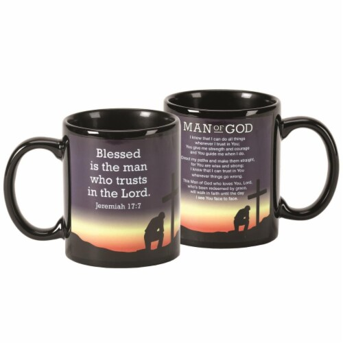 Dicksons MUG-1080 11 oz Man of God & Jeremiah 17-7 Ceramic Mug Perspective: front