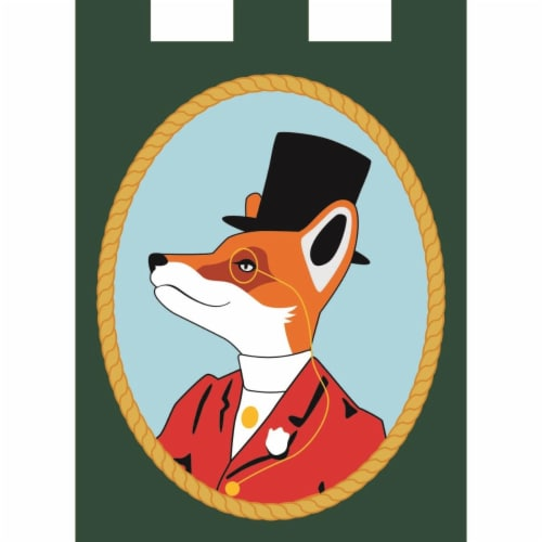 Magnolia Garden Flags M010053 13 x 18 in. Everyday Snooty Fox Polyester Garden Flag Perspective: front