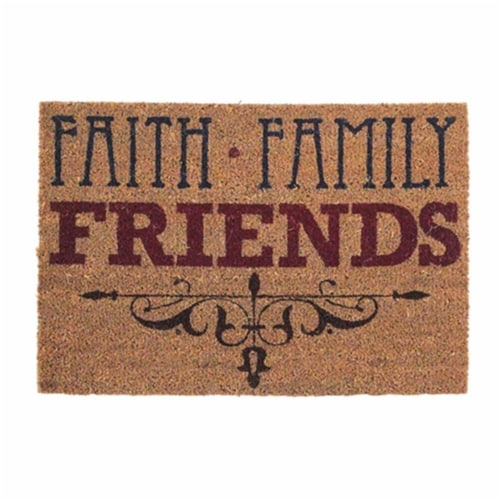Dicksons DOORMAT-6 Faith, Family & Friends Out Door Mat, 24 x 16 in. Perspective: front