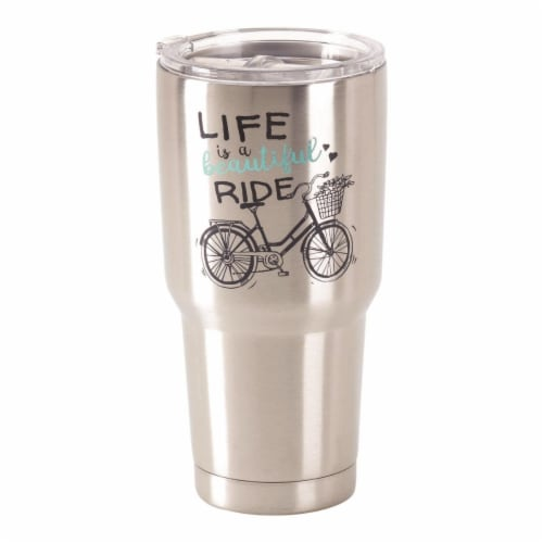 Dicksons SSTUM-30 30 oz Stainless Steel Cold or Hot Cup Tumbler - Life is a Beautiful Perspective: front