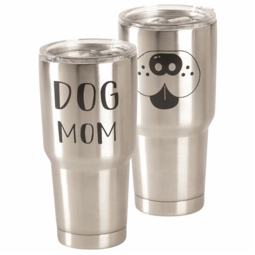 Dicksons SSTUM-33 30 oz Dog Mom Stainless Steel Tumbler Perspective: front