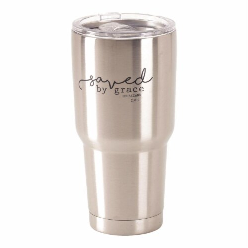 Dicksons SSTUM-36 30 oz Stainless Steel Cold or Hot Cup Tumbler - Saved by Grace Perspective: front