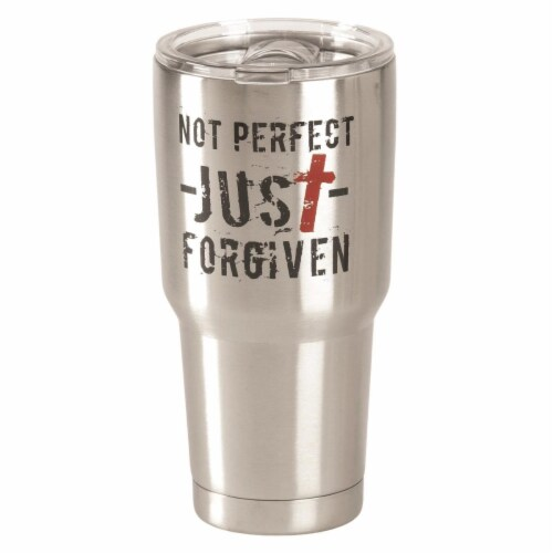 Dicksons SSTUM-44 30 oz Not Perfect Just Stainless Steel Tumbler Perspective: front