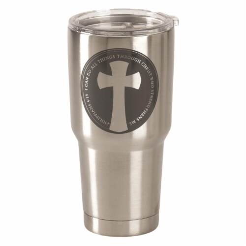 Dicksons SSTUM-46 30 oz I Can Do Philippians 4-13 Stainless Steel Tumbler Perspective: front