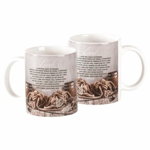 Dicksons MUG-1100 11 oz Fishermans Prayer Crmic Mug Perspective: front