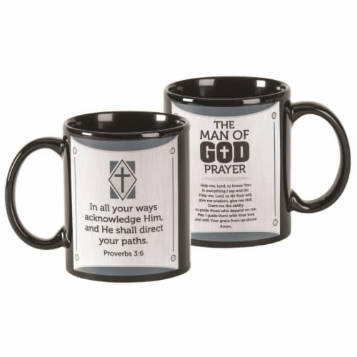 Dicksons MUG-1102 11 oz Man of God Prayer Crmic Mug, Black Perspective: front