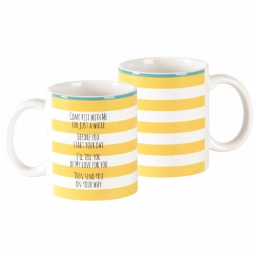 Dicksons MUG-1103 11 oz Come Rest with Me Crmic Mug Perspective: front