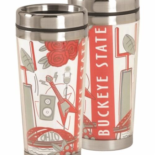 Dicksons SSMUG-262 16 oz Ohio Buckeye State Travel Mug Perspective: front