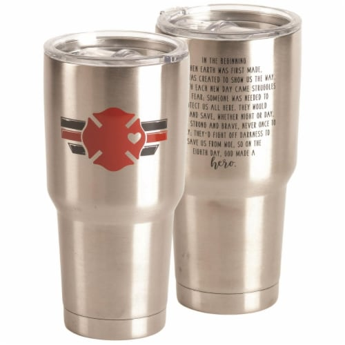 Dicksons SSTUM-69 30 oz Tumbler Fire Fighter Stainless Steel Perspective: front