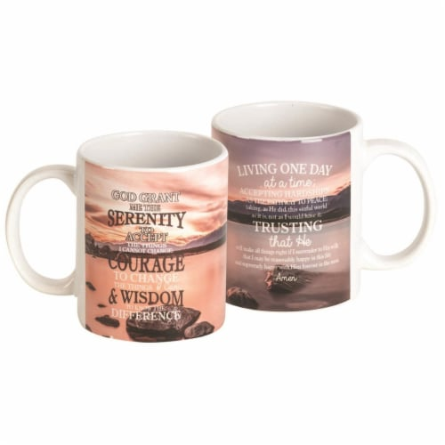 Dicksons MUG-1107 11 oz Mug Serenity Prayer Ceramic Perspective: front