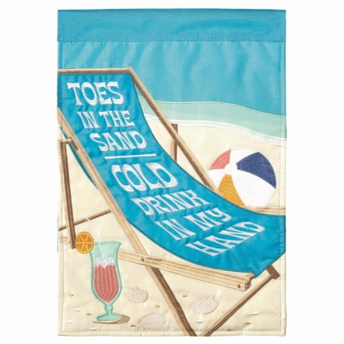 Dicksons M011138 13 x 18 in. Flag Double Applique Beach Chair Polyester Garden Perspective: front