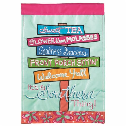 Dicksons M011147 13 x 18 in. Flag Double Applique ItS A Southern Thing Polyester Garden Perspective: front