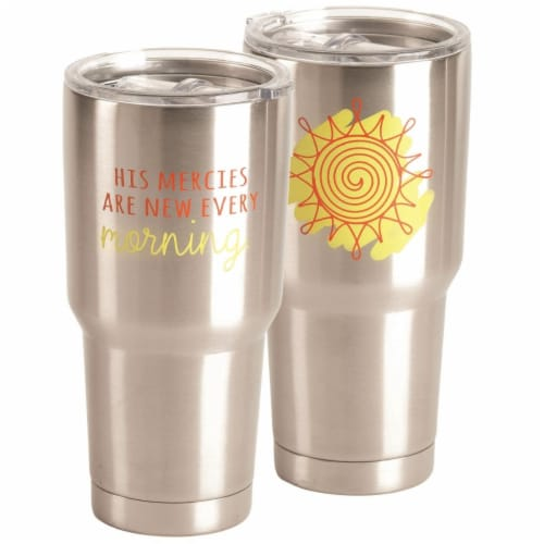 Dicksons SSTUM-48 30 oz Tumbler His Mercies Are - Stainless Steel Perspective: front