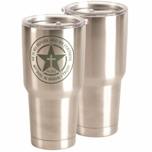 Dicksons SSTUM-54 30 oz Tumbler I Will Say Ps 91-2 Stainless Steel Perspective: front