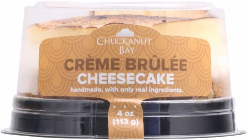 Chuckanut Bay Foods Creme Brulee Cheesecake Perspective: front