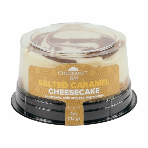 Chuckanut Bay Foods Salted Caramel Cheesecake Perspective: front
