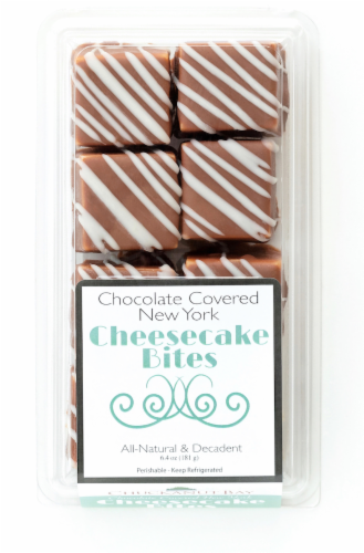 Chuckanut Bay Foods Chocolate Covered New York Cheesecake Bites Perspective: front