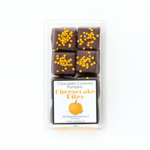 Chuckanut Bay Foods Chocolate Covered Pumpkin Cheesecake Bites Perspective: front