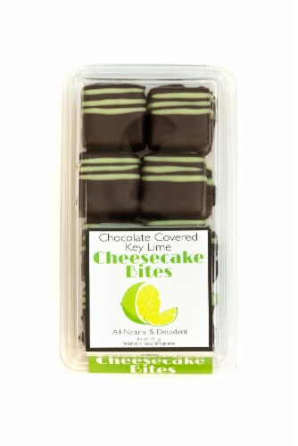 Chuckanut Bay Foods Chocolate Covered Key Lime Cheesecake Bites 8 Count Perspective: front