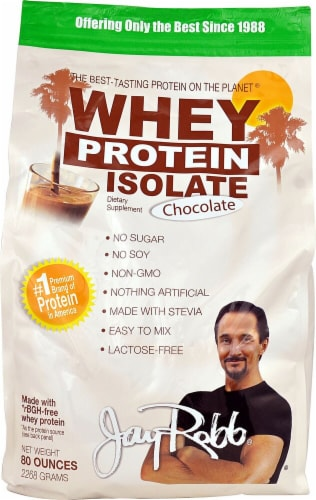 Jay Robb  Whey Protein Isolate   Chocolate Perspective: front